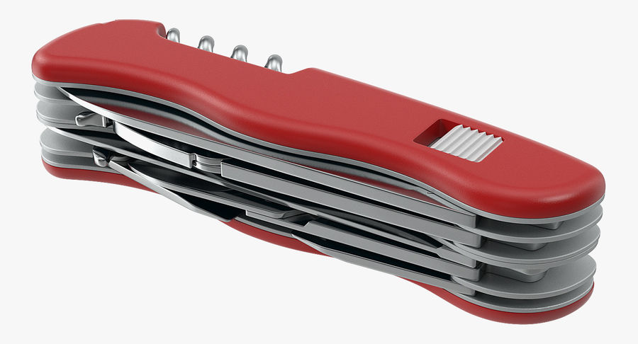 Swiss Army Classic Pen Knife royalty-free 3d model - Preview no. 5