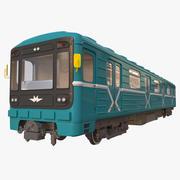 電車の地下鉄 3d model