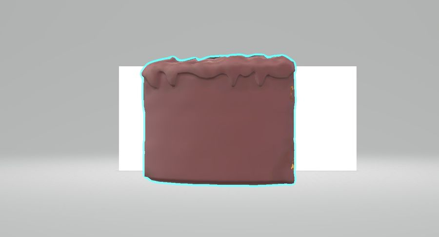 Une part de gâteau royalty-free 3d model - Preview no. 3