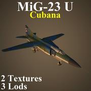 MIG23U CUBa 3d model