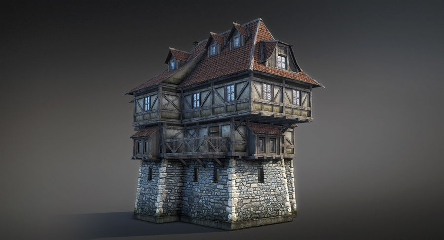 Fantsy House 08 royalty-free 3d model - Preview no. 3