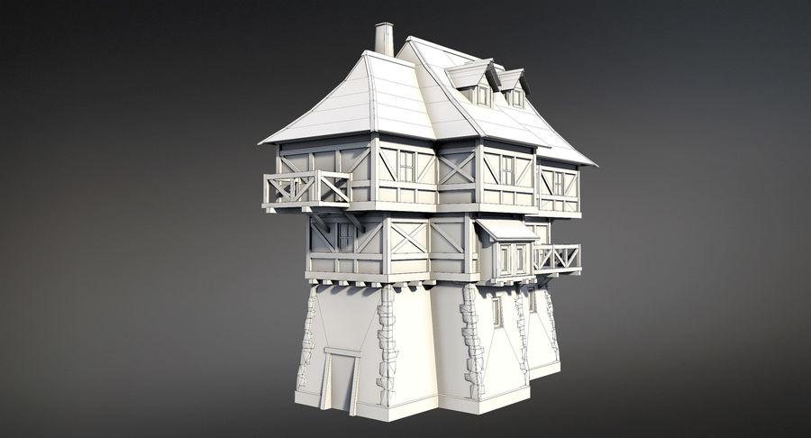 Fantsy House 08 royalty-free 3d model - Preview no. 10