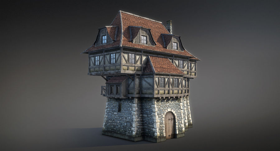 Fantsy House 08 royalty-free 3d model - Preview no. 8