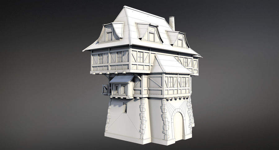 Fantsy House 08 royalty-free 3d model - Preview no. 9