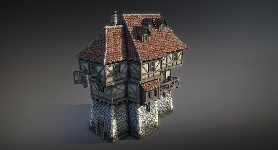 Fantsy House 08 royalty-free 3d model - Preview no. 5
