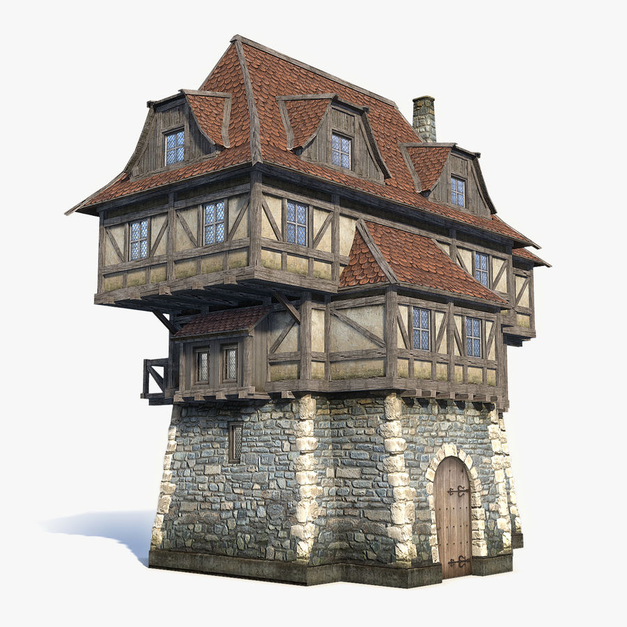 Fantsy House 08 royalty-free 3d model - Preview no. 1