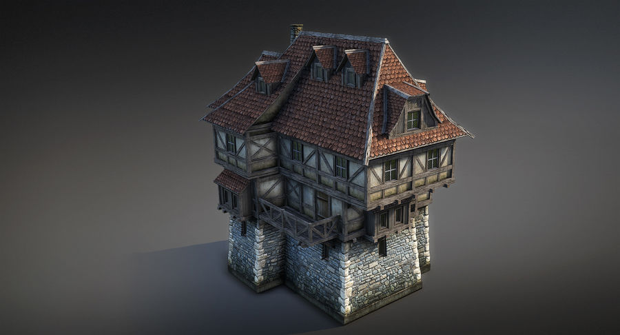 Fantsy House 08 royalty-free 3d model - Preview no. 4