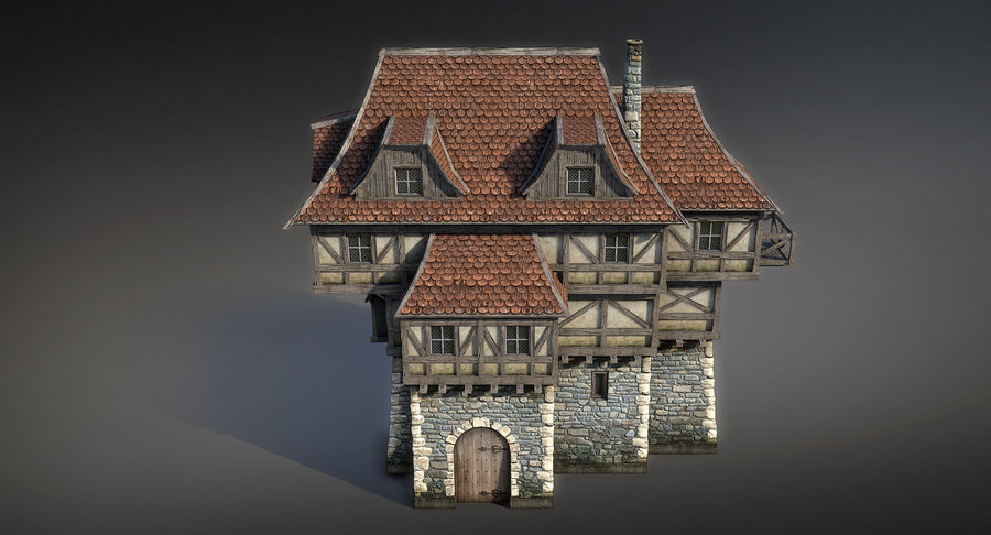 Fantsy House 08 royalty-free 3d model - Preview no. 7