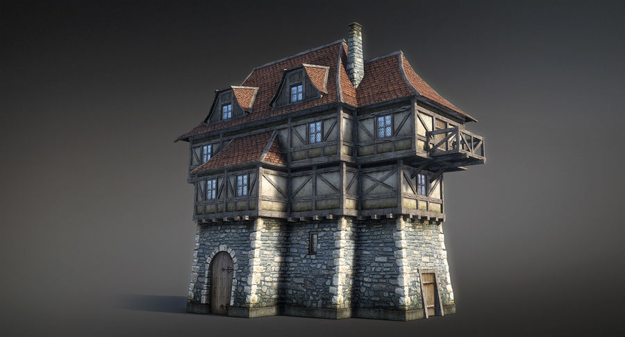 Fantsy House 08 royalty-free 3d model - Preview no. 6