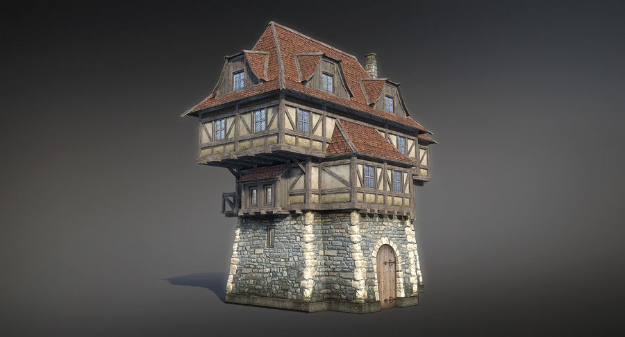 Fantsy House 08 royalty-free 3d model - Preview no. 2