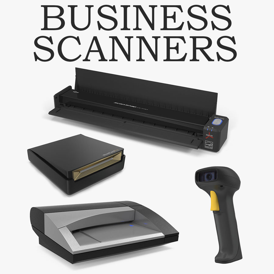 Business Scanners Collection royalty-free 3d model - Preview no. 1