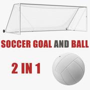 Сборник футбольных мячей и мячей 3d model