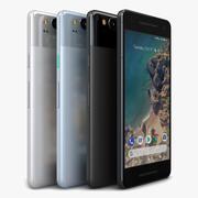 Google Pixel 2 All Color 3d model
