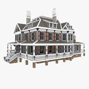 Vecchia casa tradizionale americana 3d model