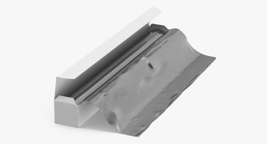 Aluminium Foil Boxes royalty-free 3d model - Preview no. 8