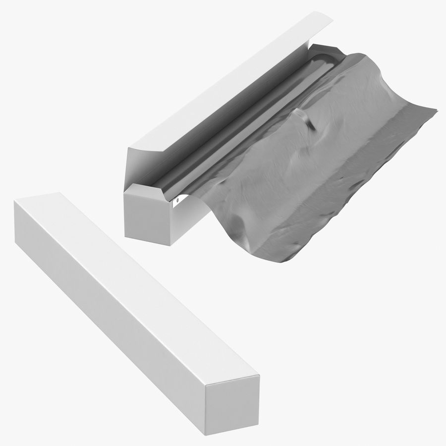 Aluminium Foil Boxes royalty-free 3d model - Preview no. 1
