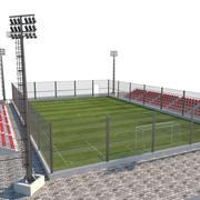 Fußballplatz 3d model