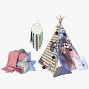 帐篷粉 3d model