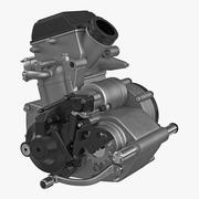 Motocross Motorcycle Engine 2 3d model