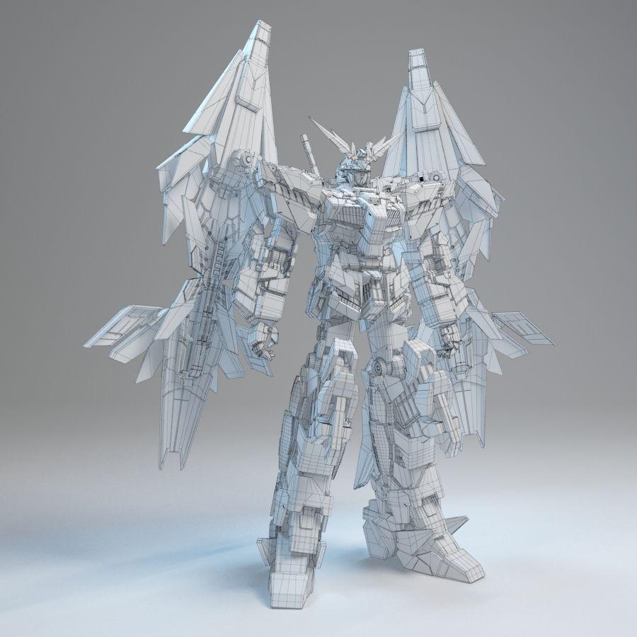 Gundam Unicorn Phenex royalty-free 3d model - Preview no. 8