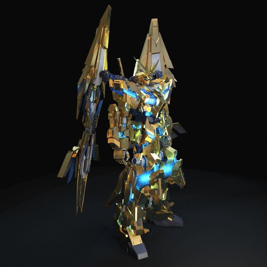 Gundam Unicorn Phenex royalty-free 3d model - Preview no. 6