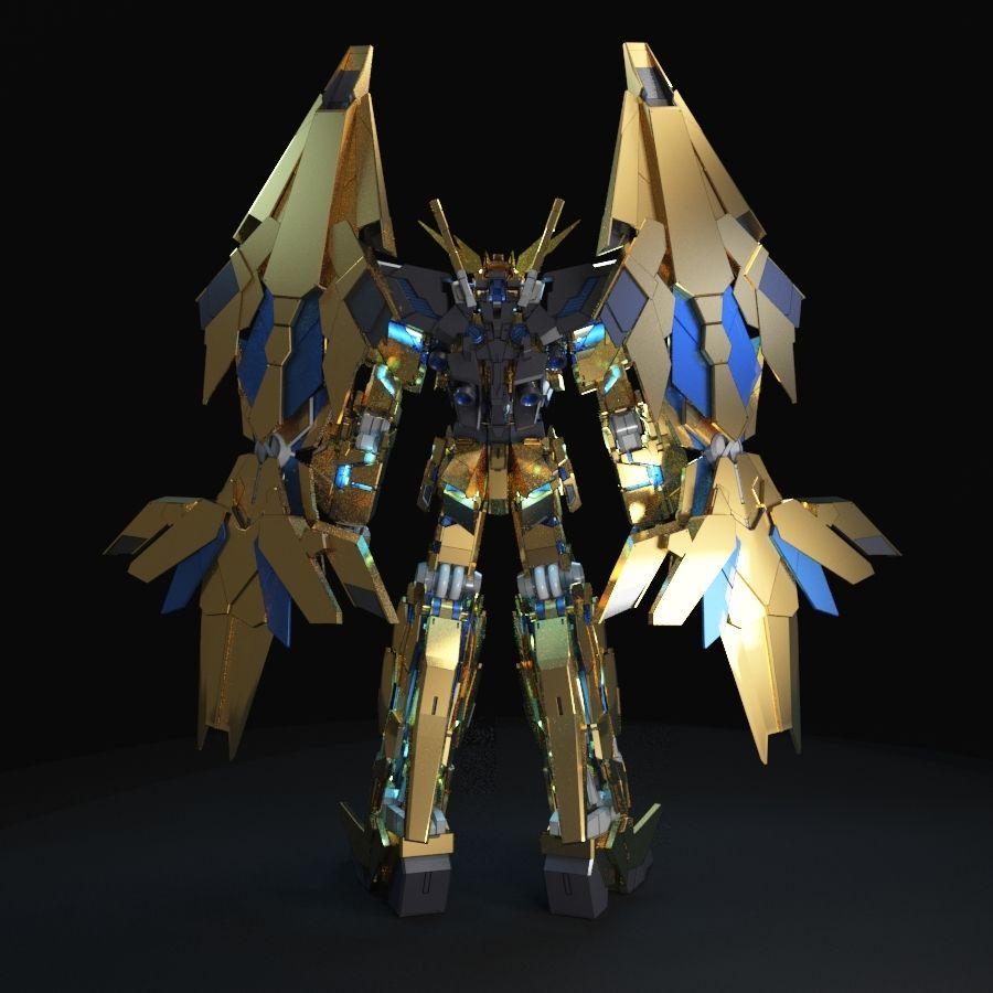 Gundam Unicorn Phenex royalty-free 3d model - Preview no. 5
