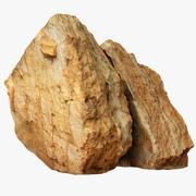 Cracked Limestone Boulder 3d model