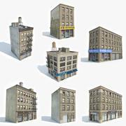 Kolekcja 7 budynków mieszkalnych 3d model