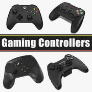 Gaming Controllers Collection 3d model