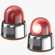 Car Lights Red 3d model