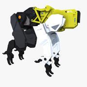 Sci-fi Bloodhound Animal Robot 3d model