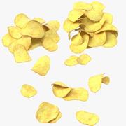 Kartoffelchips Haufen 3d model