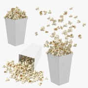 Popcorn Boxes Collection 3d model