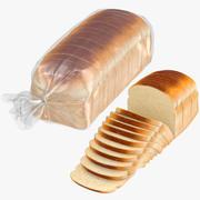 Colección de panes rebanados modelo 3d