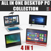All In One Desktop PC 3D Models Collection 3d model