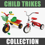 Child Trikes Collection 3d model