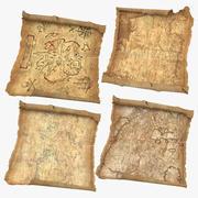 Treasure Maps 03 Collection 3d model