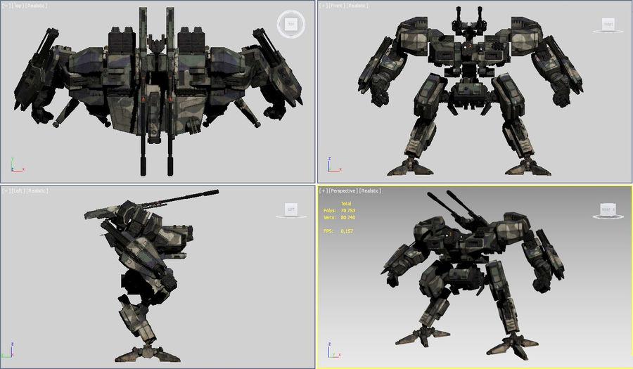 FM Bot royalty-free 3d model - Preview no. 20