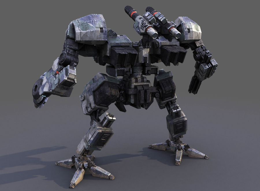 FM Bot royalty-free 3d model - Preview no. 13