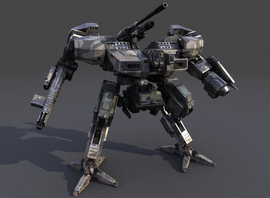 FM Bot royalty-free 3d model - Preview no. 6