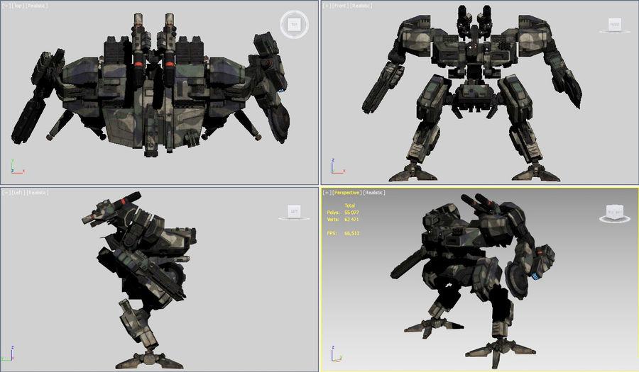 FM Bot royalty-free 3d model - Preview no. 21
