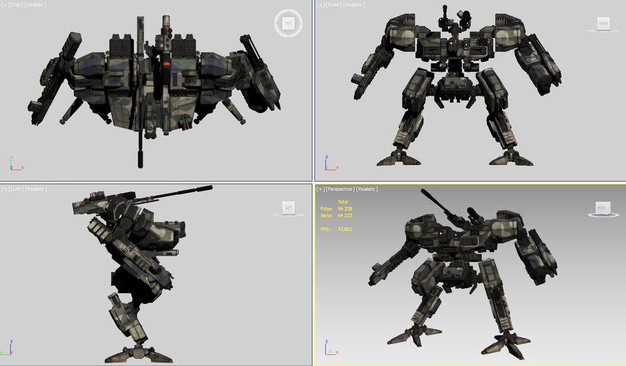 FM Bot royalty-free 3d model - Preview no. 22