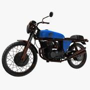 Weinlese-Motorrad 3d model