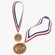 Olympic Bronze Medal Collection 3d model