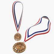 Collection de médailles de bronze olympiques 3d model