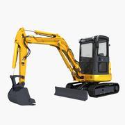 小型挖掘机 3d model