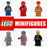 レゴMinifigures 3Dモデルコレクション2 3d model