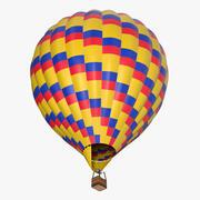 Montgolfière colorée 3d model