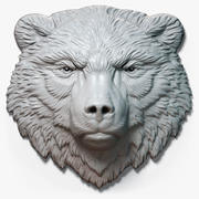 Bear Head Sakin Rölyef 3d model