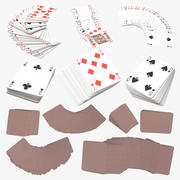 Playing Cards Red 3d model